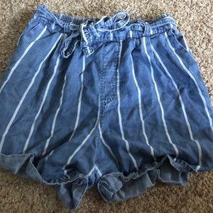 UNIVERSAL THREAD stripe high waist tie shorts